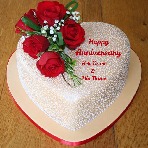 Anniversary Cake Images With Name And Photo Editor : Write Your Name on anniversary cakes pictures online edit