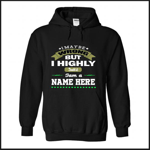 Trendy Black Stylish Hoodie For Mens With Your Name