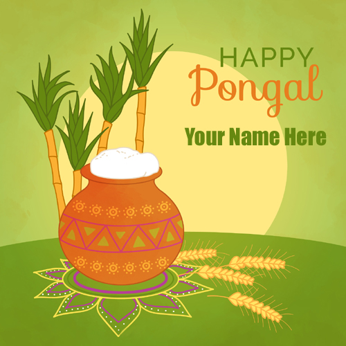 Write Name on Happy Pongal 2019 Festival Profile Pics