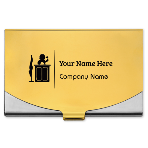 Stainless Steel Business Card Holder With Your Name