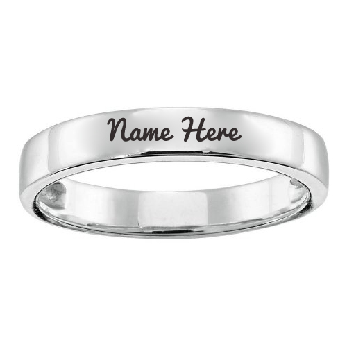 Personalized Engraved Stacking Ring with Your Name