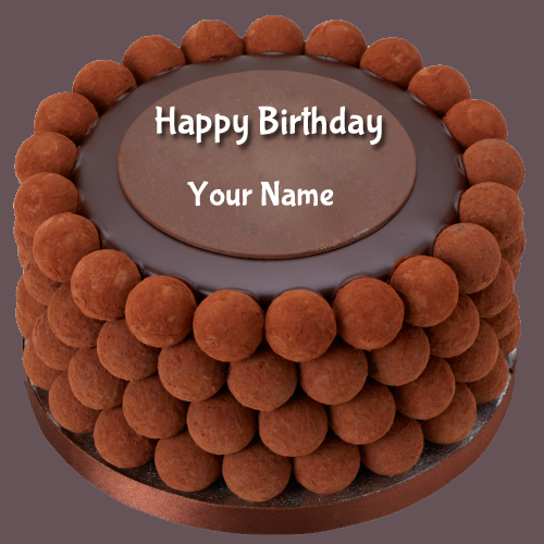 Write Name on Birthday Wishes Chocolate Balls Cake