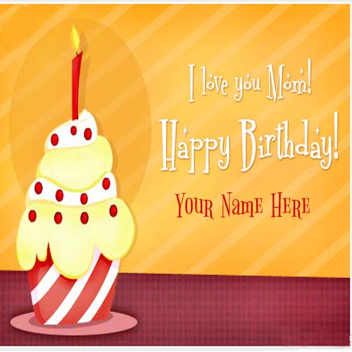 i love you mom happy birthday wishes cards, Birthday card