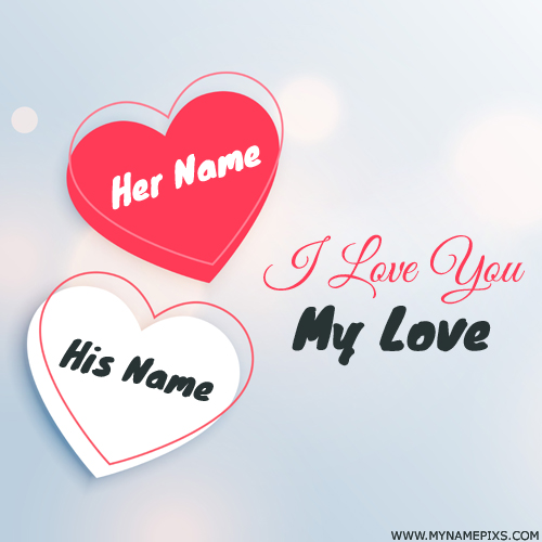 Write Couple Name on Romantic Heart Whatsapp DP Pics