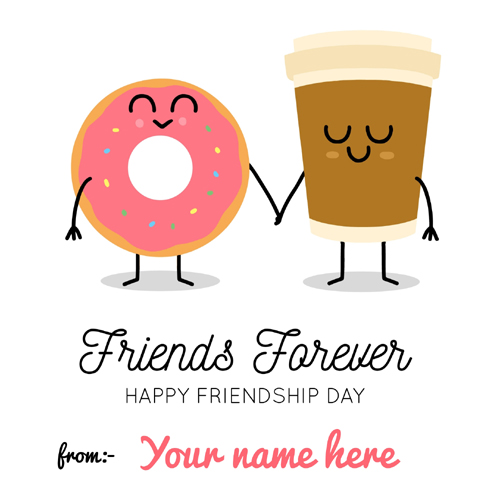 Write Name on Friends Forever Cute Whatsapp Status