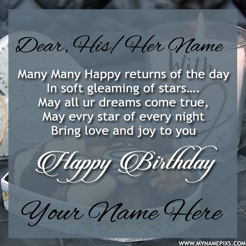 Many Many Happy Returns of The Day Birthday Name Card