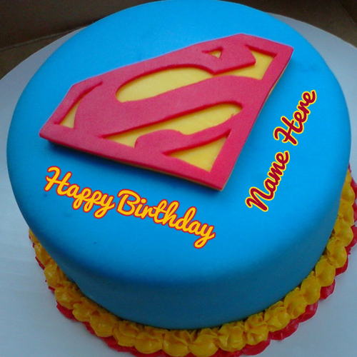 Images Of Birthday Cake With Name Simran : Superman Birthday Wishes Designer Cake With Your Name