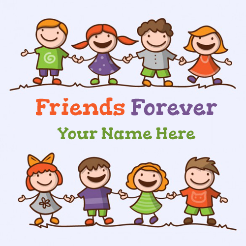 Happy Friends Forever Greeting Card With Your Name