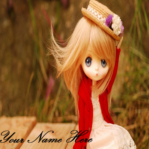 Write Your Name On Cute Stylish Doll Online