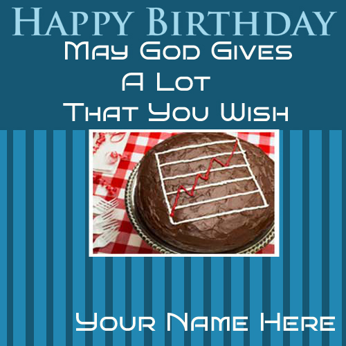 Write Your Name On Happy Birthday Nice Greetings Cards