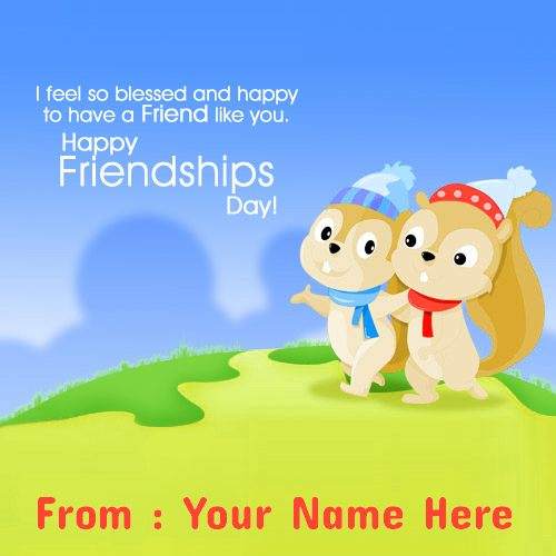 Happy Friendship Day Wishes Name Pictures Online