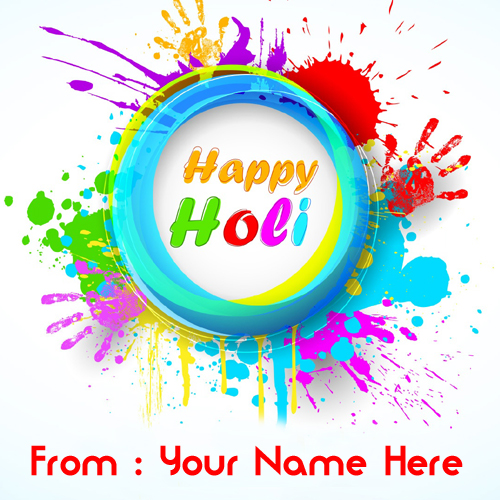 Write Name on Happy Holi 3D Greetings Picture