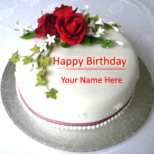 Birthday Cake Images To Write Name : Write Name on Beautiful Love Birthday Cake Online Free