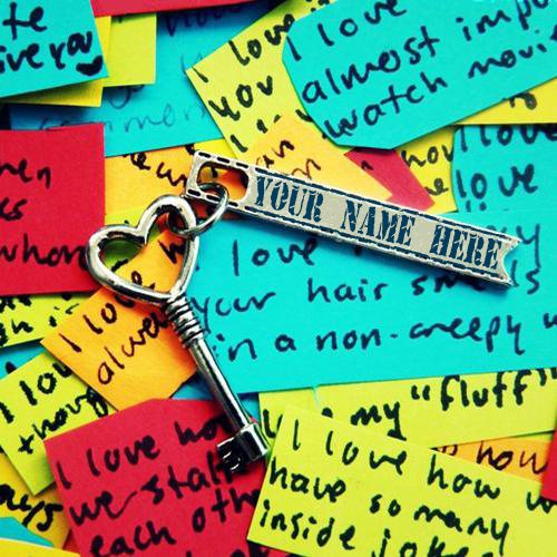 Write Your Name On Heart Key Online Free
