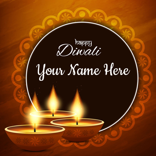 Happy Diwali Wishes Whatsapp Greeting Card With Name