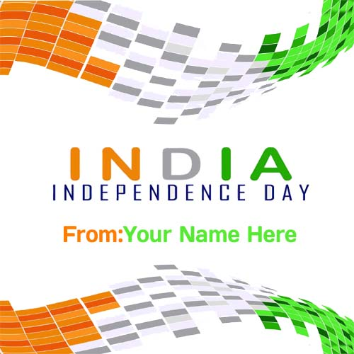 Generate Text On India Independence Day Wishes Pic