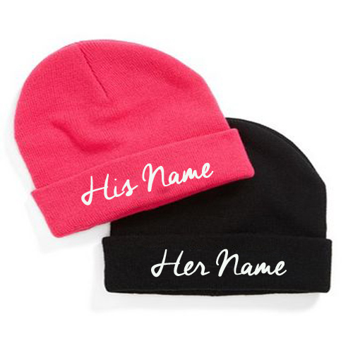 Write Your Name On Cool Couple Cap Online Free.