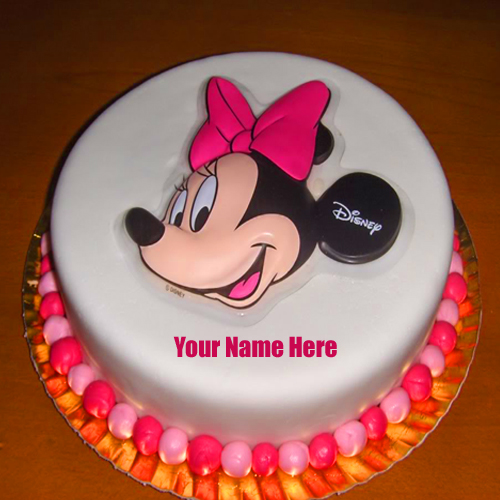 Write Name on Mickey Mouse Theme Cake