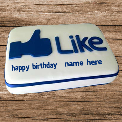 Write Name on Birthday Special Facebook Like Cake
