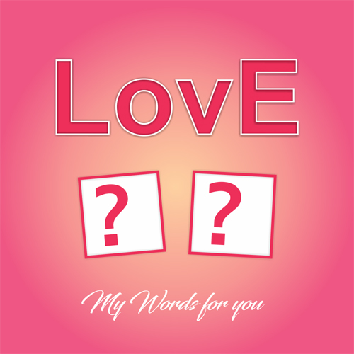 Romantic Love Greeting Card With Name Alphabet on it