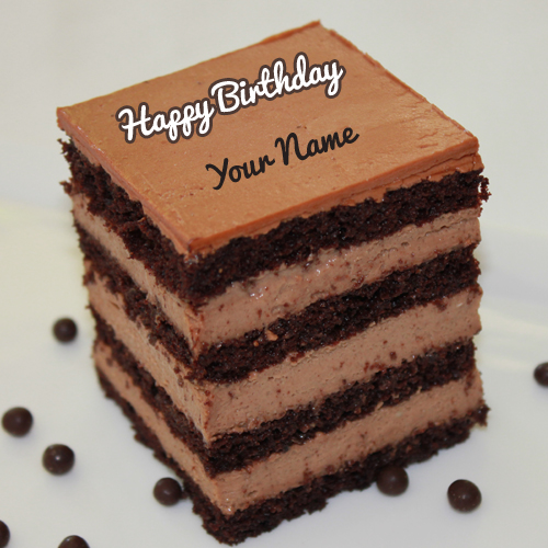 Super Dark Rich Chocolate Sponge Cake With Your Name