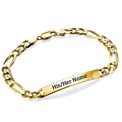 Fashionable Gold Plating Womens Bracelet With Her Name