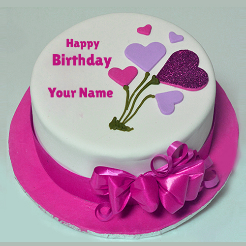 Bday Cake Images With Name Editor : Edit Birthday Shining Glitter Decorated Cake With Your