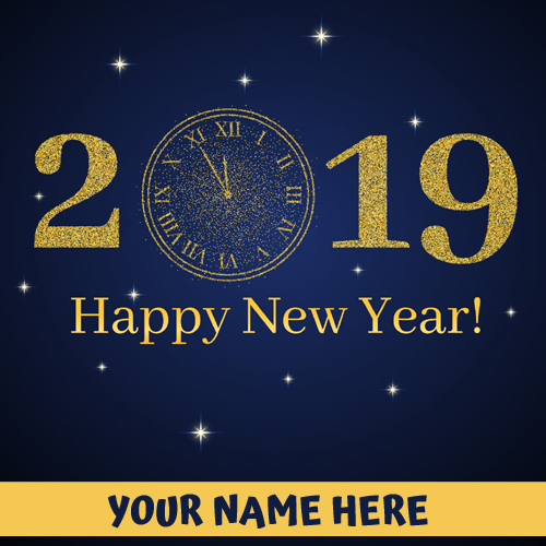 New Year 2019 Welcome Countdown Greeting With Name