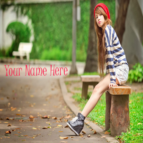 Write Your Name On Waiting Beautiful Girl Online