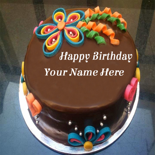 Happy birthday cake with name edit option