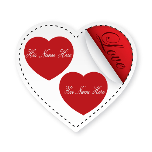Write Your Name On Cute Love Heart Online Free