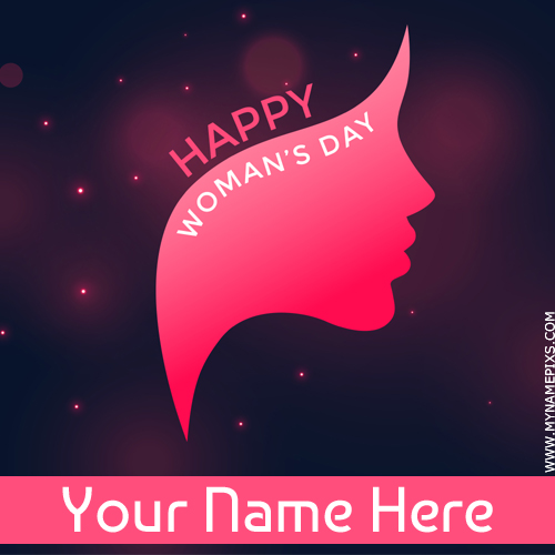 Happy Womens Day 8th March Wish Card With Your Name
