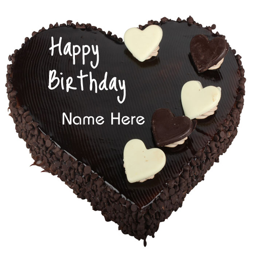 Birthday Wishes Cake Chocolate Heart Cake With Name