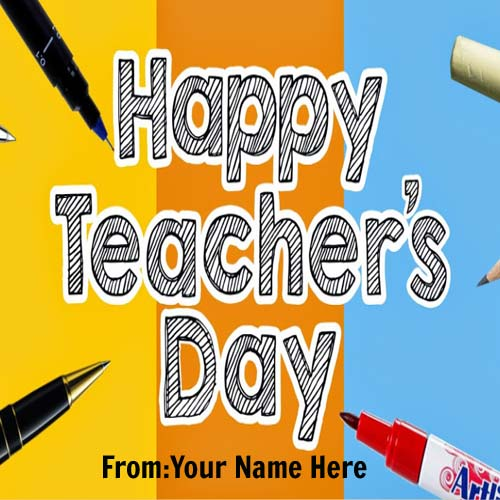 Print Your Name On Teachers Day Wishes Images