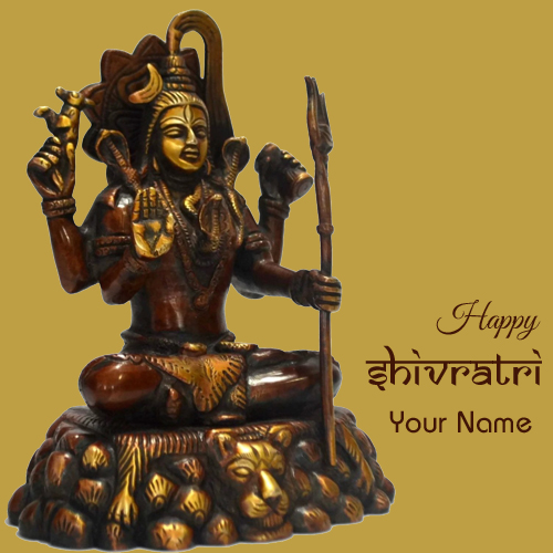 Happy Maha Shivratri Lord Shiva Greeting With Name