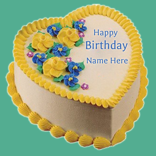 Write Name on Birthday Cake With Name For Dear Friend