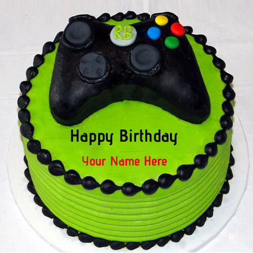 Write Name on Microsoft Xbox Birthday Cakes For Boys