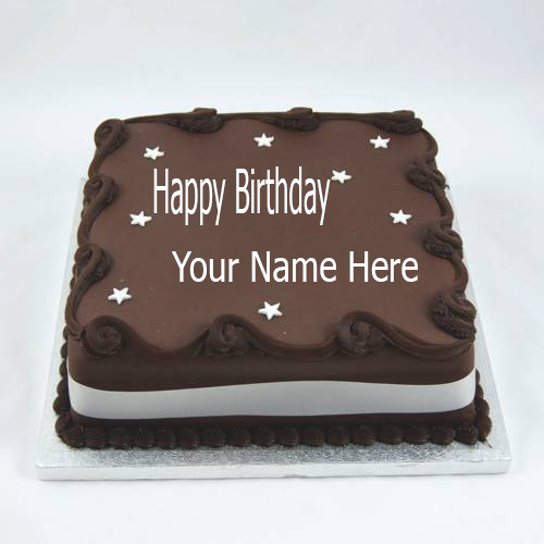 Images Of Birthday Cake With Name Simran : Write Name On Chocolate Birthday Cake.