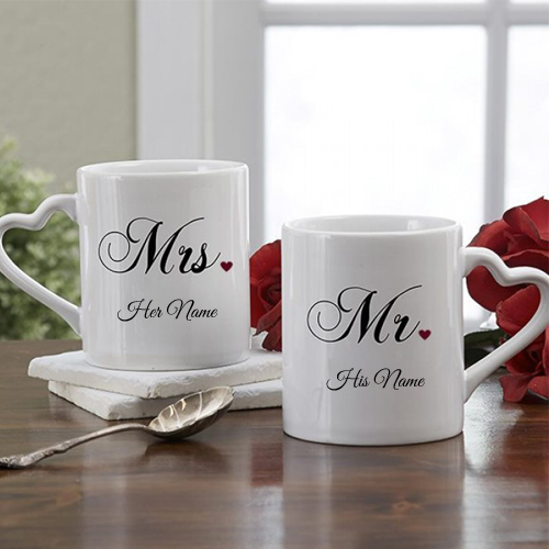 Write Couple Name on Coffee Mug Profile Picture